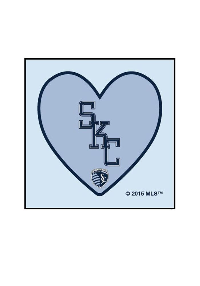 Sporting Kansas City Logo In Heart 4 Pack Tattoo - Image 1
