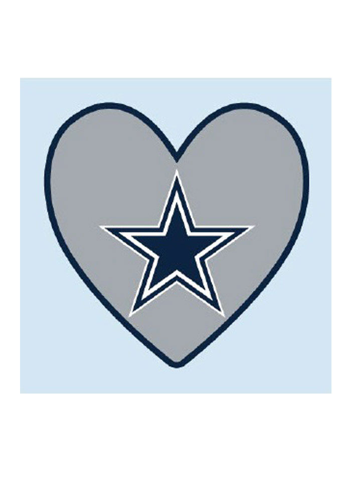 Dallas Cowboys Logo In Heart 4 Pack Tattoo - Image 1