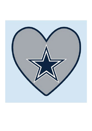 Dallas Cowboys Logo In Heart 4 Pack Tattoo