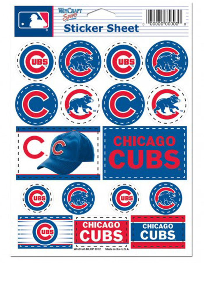 Chicago Cubs Team Logos Stickers - Image 1