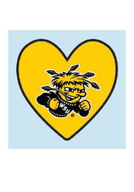 Wichita State Shockers Logo In Heart 4 Pack Tattoo