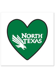 North Texas Mean Green Logo In Heart 4 Pack Tattoo