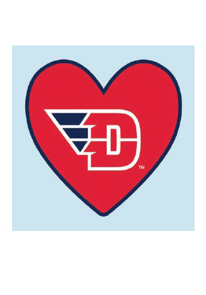 Dayton Flyers Logo In Heart 4 Pack Tattoo - Image 1