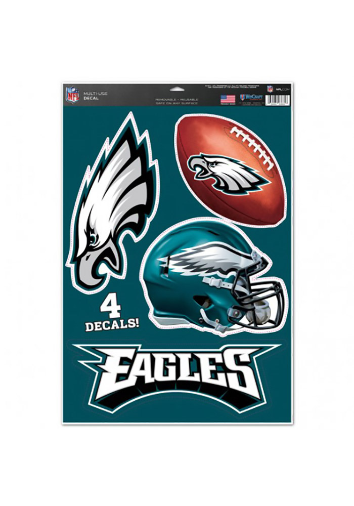 Philadelphia Eagles 11x17 Multi Use Sheet Auto Decal - Midnight Green - Image 1