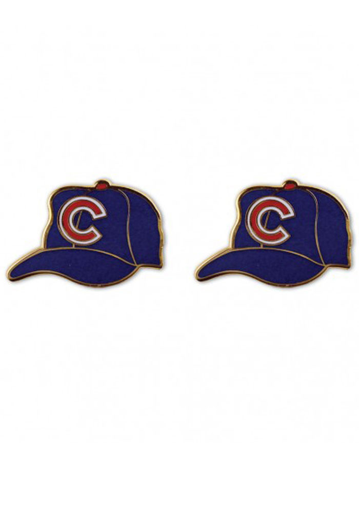 Chicago Cubs Cap Womens Earrings - Image 1