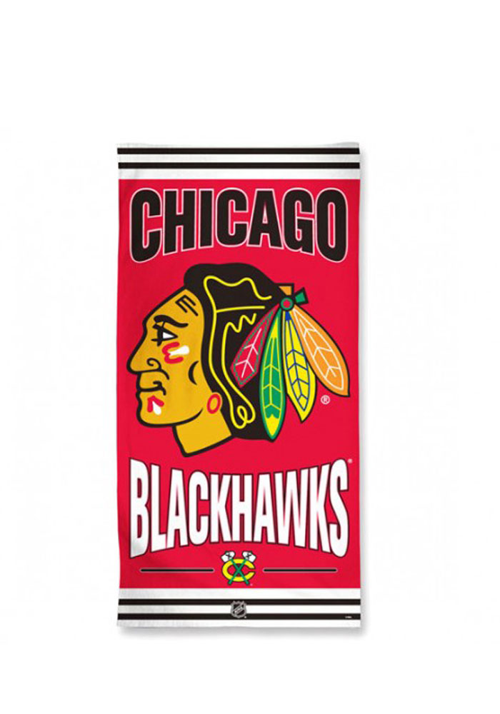 Chicago Blackhawks Team Logo Beach Towel - Image 1