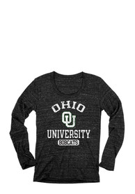 Ohio Bobcats Juniors Danville Black Scoop Neck Tee