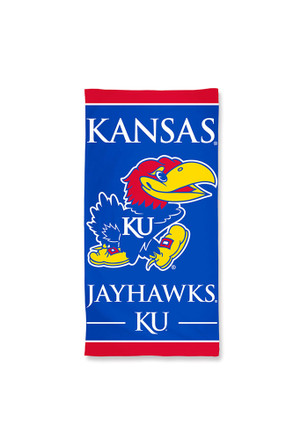 Kansas Jayhawks Team Logo Beach Towel