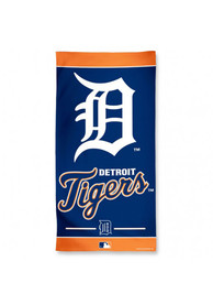 Detroit Tigers Team Logo Beach Towel