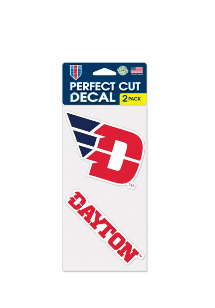 Dayton Flyers 4x4 2 Pack Decal - Image 1