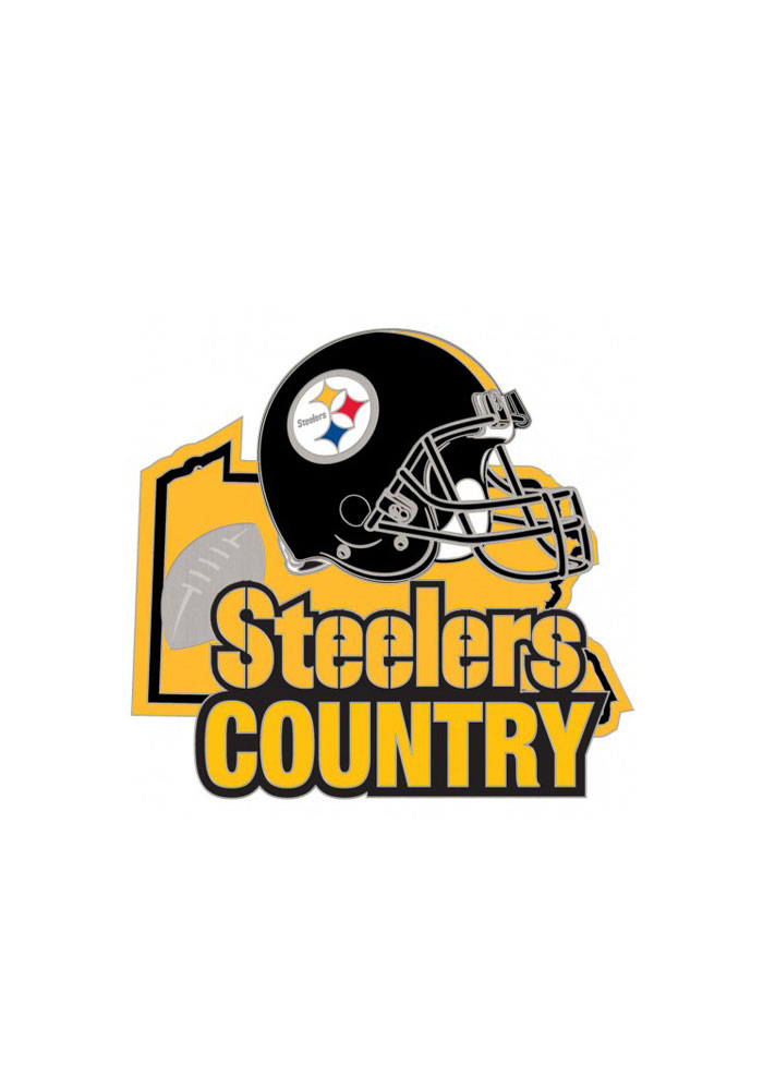 Pittsburgh Steelers Souvenir Steeler Country Pin - Image 1