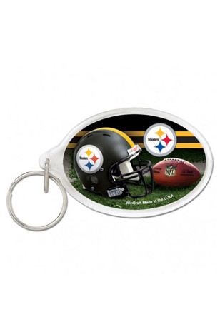 Pittsburgh Steelers Oval Keychain