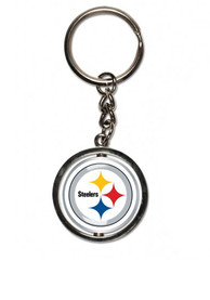 Pittsburgh Steelers Logo Spinner Keychain