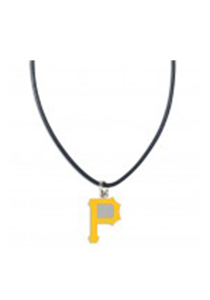 Pittsburgh Pirates Team Logo on Leather Necklace - Image 1