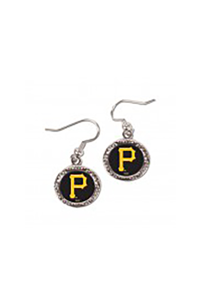 Pittsburgh Pirates Crystal Dangle Womens Earrings - Image 1