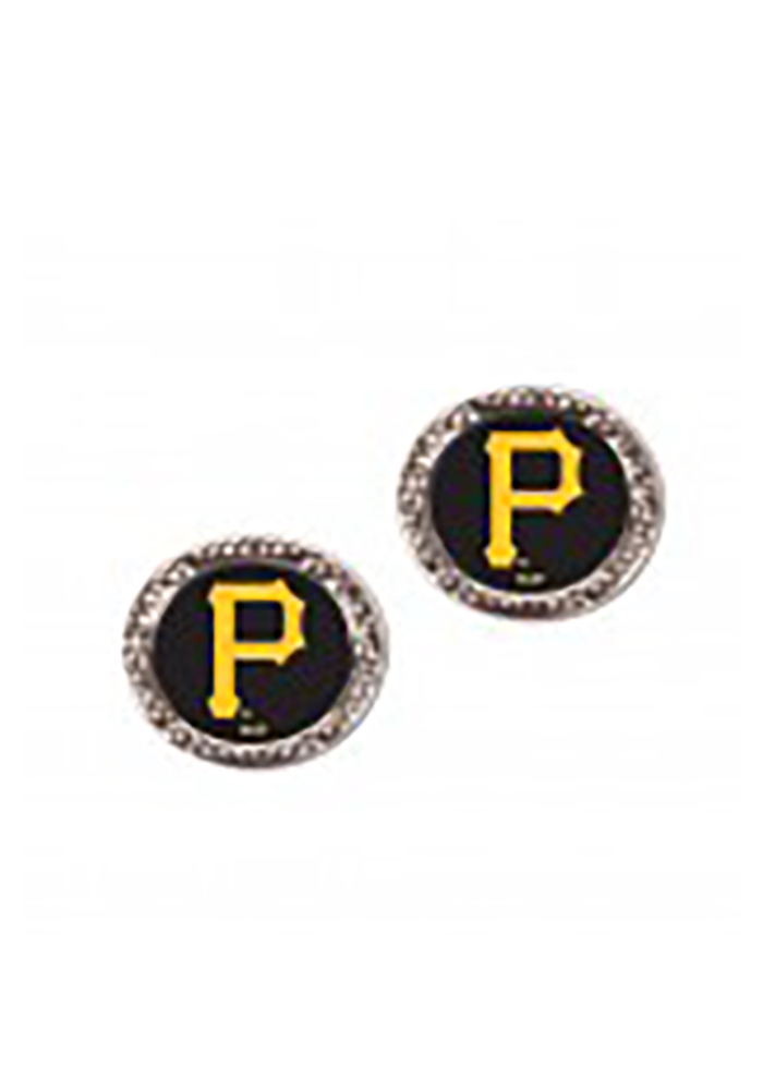 Pittsburgh Pirates Crystal Post Womens Earrings - Image 1