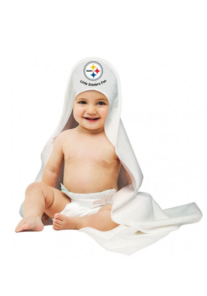 Pittsburgh Steelers Hooded Towel Baby Bath Accessory - Image 1