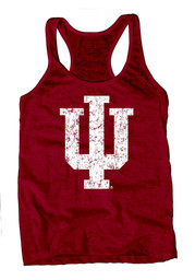 Indiana Hoosiers Womens Red Burnout Tank Top