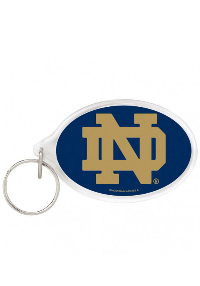Notre Dame Fighting Irish Oval Keychain - Image 1