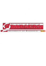 Wisconsin Badgers 6 pack Pencil