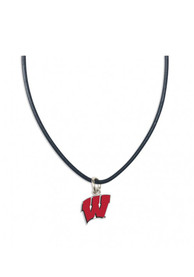 Wisconsin Badgers Womens Team Logo Necklace - Red
