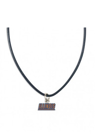 Illinois Fighting Illini Womens Team Logo Necklace - Orange