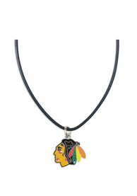 Chicago Blackhawks Womens Team Logo Necklace - Red