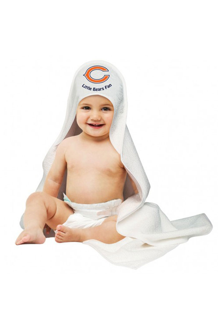 Chicago Bears Hooded Towel Baby Bath Accessory - Image 1