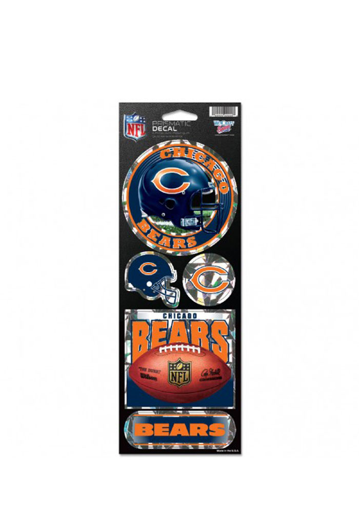 Chicago Bears Prismatic Stickers - Image 1