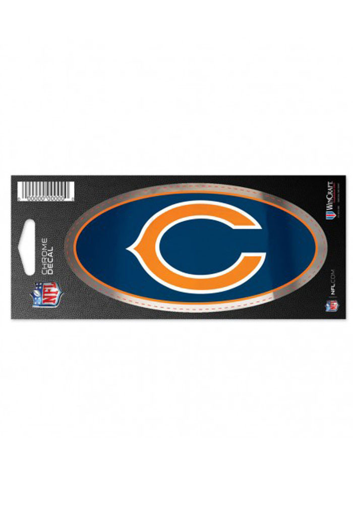 Chicago Bears Chrome Stickers - Image 1