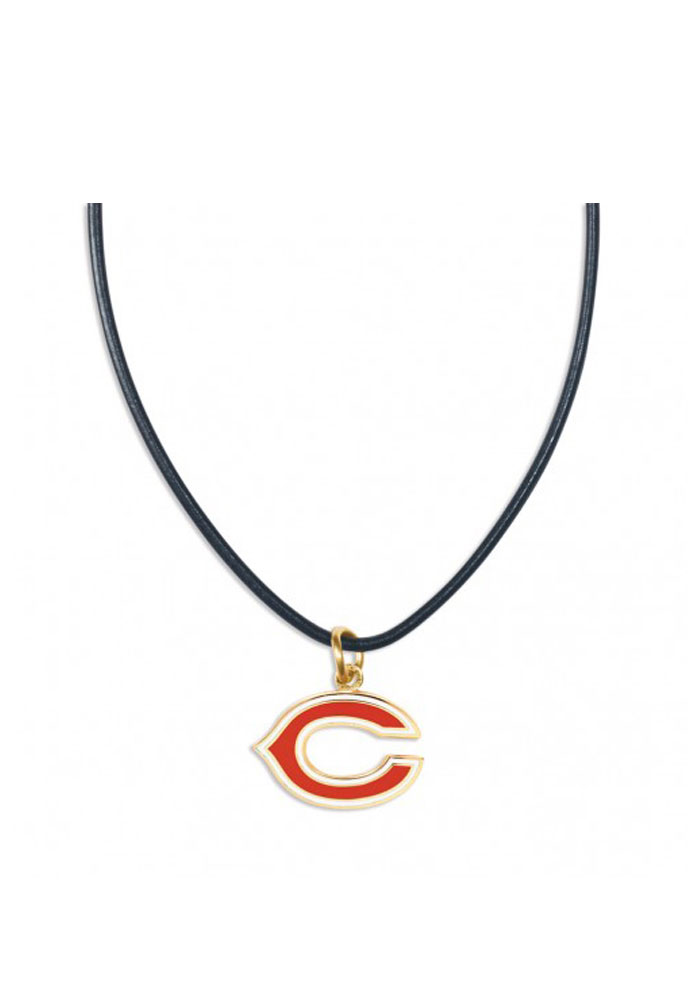 Chicago Bears Womens Team Logo Necklace - Navy Blue