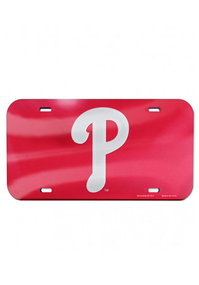 Philadelphia Phillies Cap Logo Inlaid Car Accessory License Plate - Image 1
