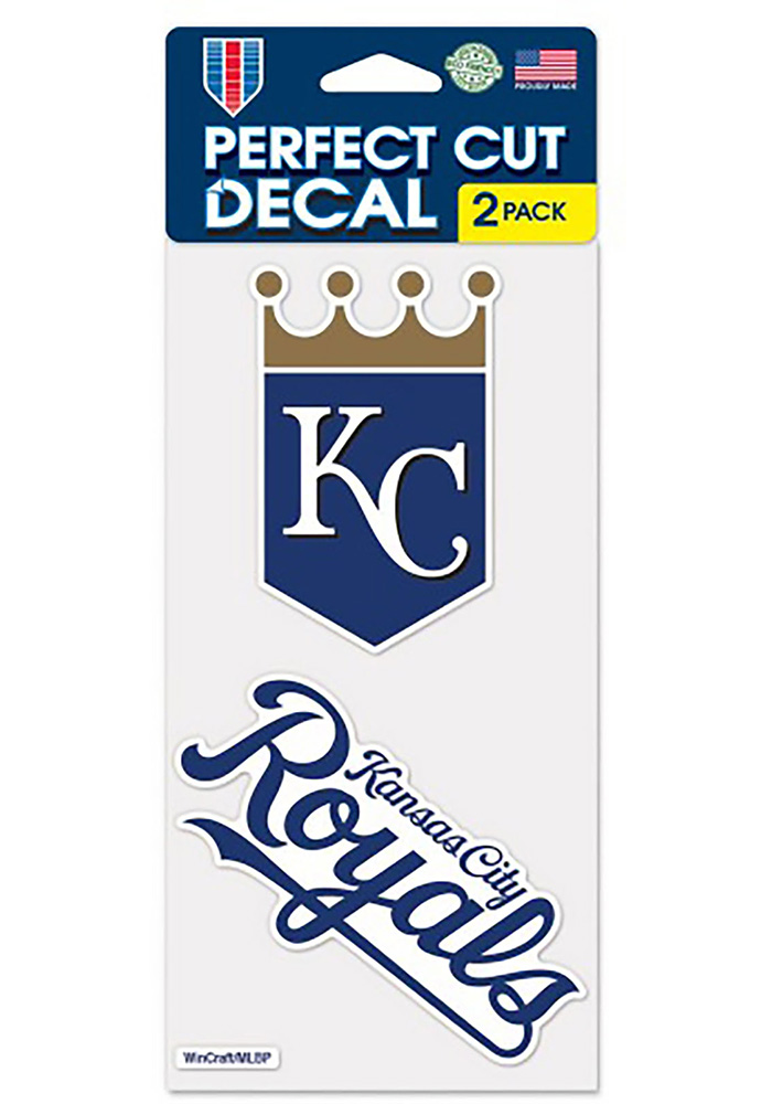 Kansas City Royals 4x4 2 Pack Auto Decal - White