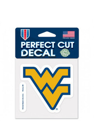 West Virginia Mountaineers Perfect Cut Auto Decal - Gold