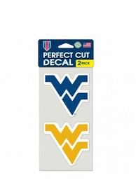 West Virginia Mountaineers 2 Pack Auto Decal - Gold