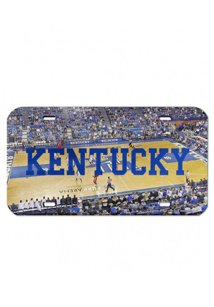 Kentucky Wildcats Rupp Arena Crystal Car Accessory License Plate - Image 1