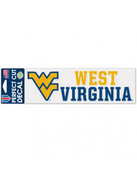 West Virginia Mountaineers 3x10 Perfect Cut Auto Decal - Gold