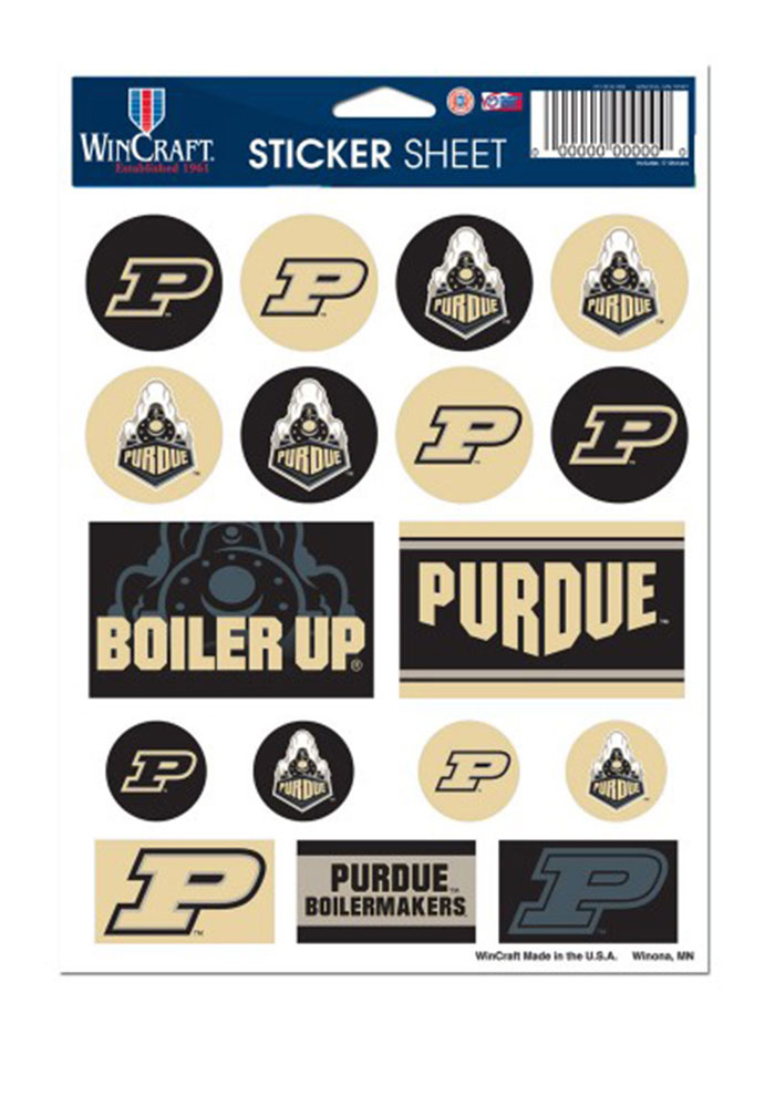 Purdue boilermakers team logos stickers