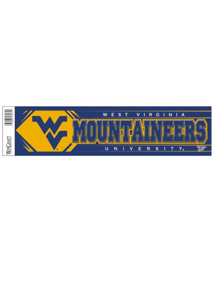 West Virginia Mountaineers Team Logo Auto Bumper Sticker - Image 1