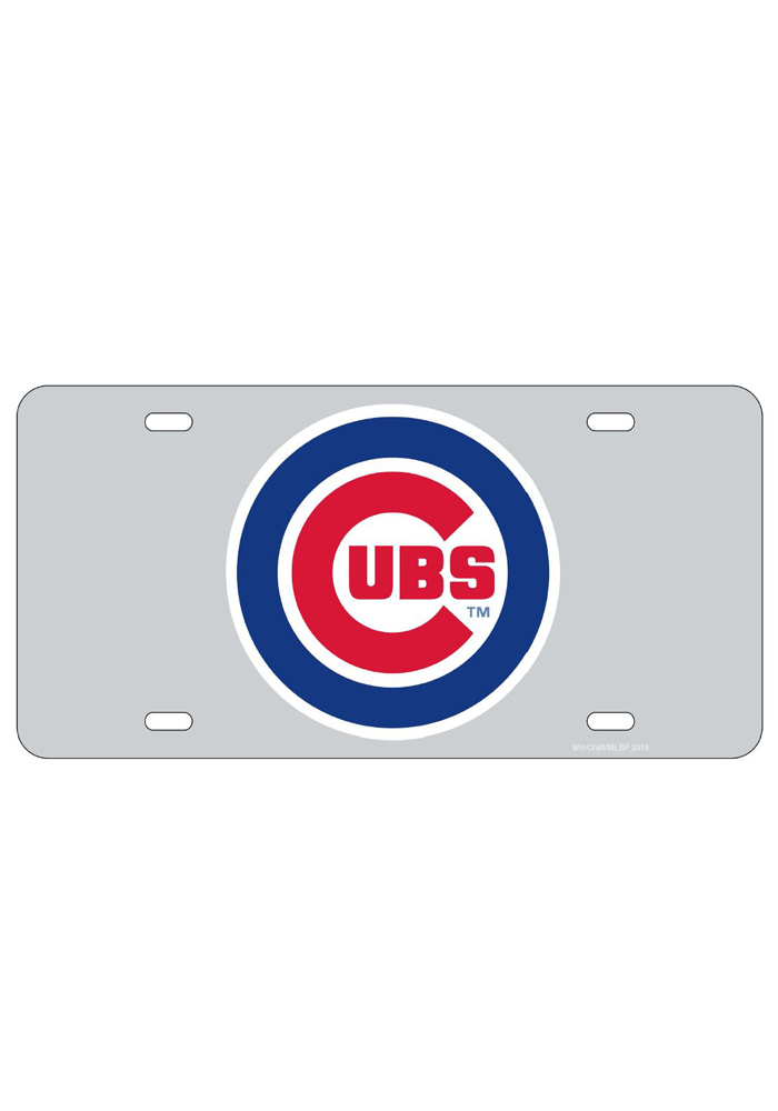 Chicago Cubs Team Logo Inlaid Car Accessory License Plate - Image 1