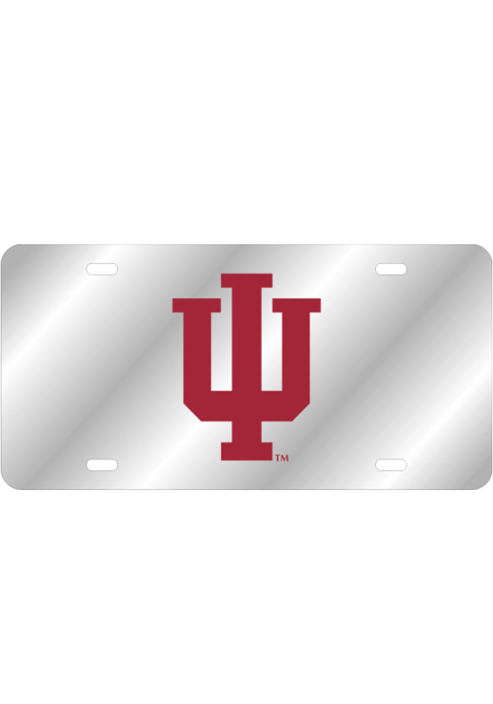 Indiana Hoosiers Team Logo Inlaid Car Accessory License Plate - Image 1