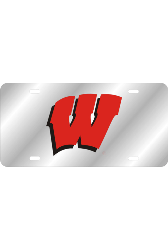Wisconsin Badgers Team Logo Inlaid Car Accessory License Plate - Image 1