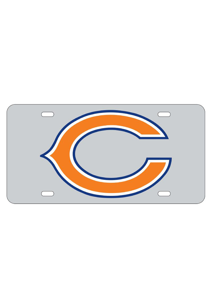 Chicago Bears Team Logo Inlaid Car Accessory License Plate - Image 1