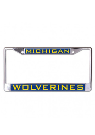 Michigan Wolverines Team Name Inlaid License Frame