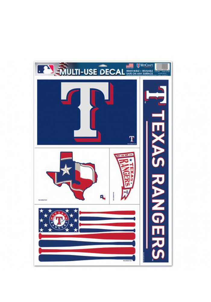 Texas Rangers Multi Use Auto Decal - Blue - Image 1
