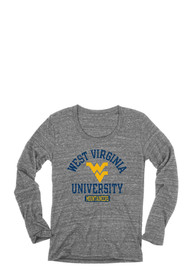West Virginia Mountaineers Juniors Danville Grey Scoop Neck Tee