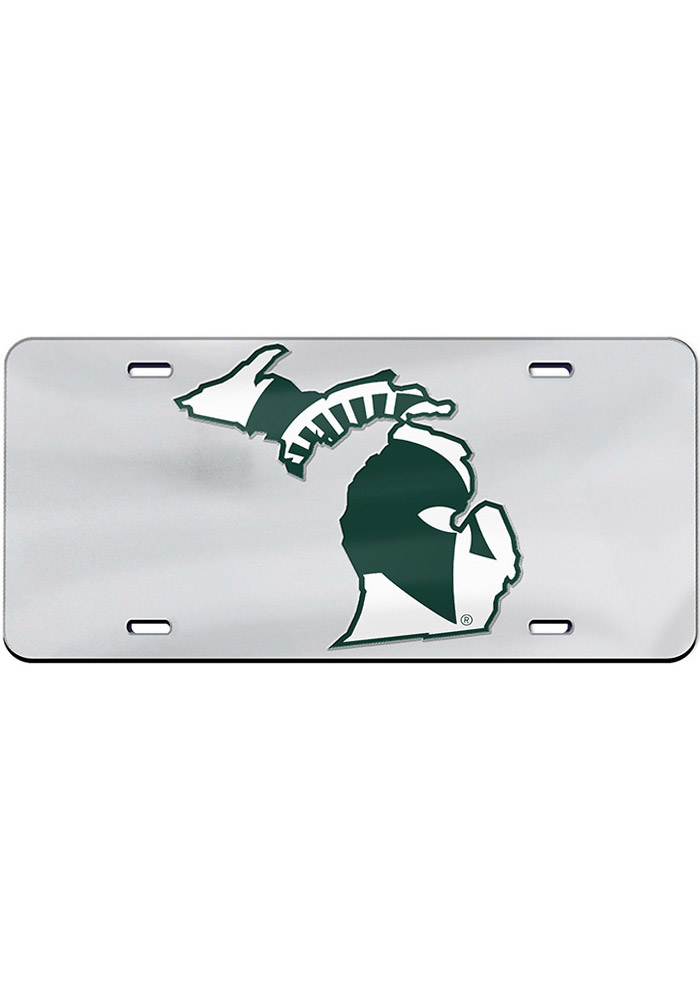 Michigan State Spartans Logo in State Car Accessory License Plate - Image 1