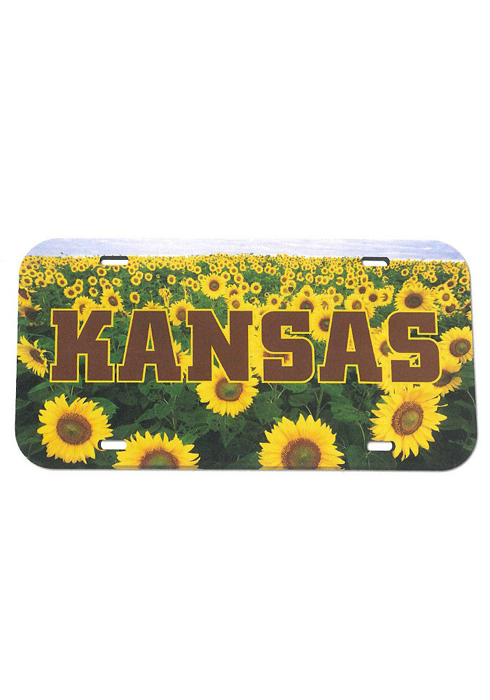 Kansas Field of Sunflowers Car Accessory License Plate - Image 1