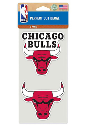 Chicago Bulls 2 Pack Perfect Cut Decal