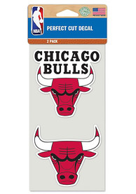 Chicago Bulls 2 Pack Perfect Cut Auto Decal - Red